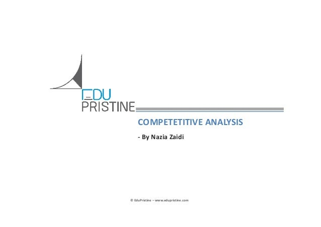 #CFA: Understanding competitive analysis