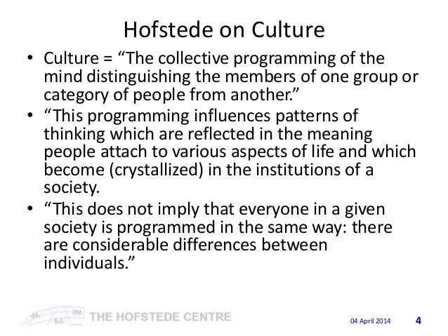 hofstede culture influencing international hrm Impact of hr practices on organizatio practices  iwp, cultural sensitivity,  international hrm business  hofstede's cultural value dimensions (hofsted  below.