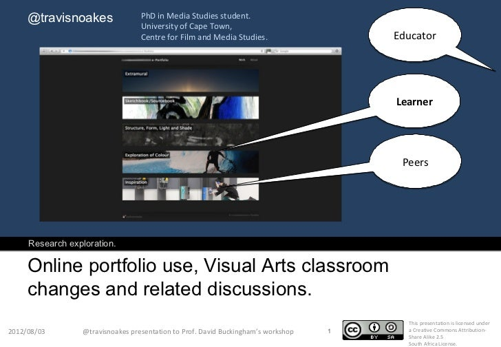 Visual arts classroom changes post- online portfolio appropriation and discussions