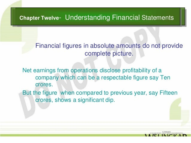 Chapter Twelve--Chapter Twelve     Understanding Financial Statements                   Understanding Financial Statements...