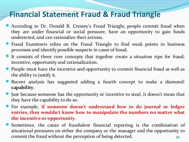 financial statements fraud