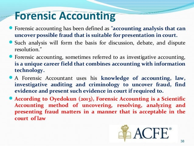forensic accounting term papers