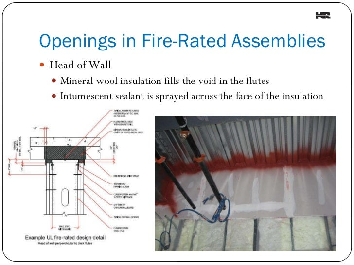 Pictures penetration in hospital fire-rated wall