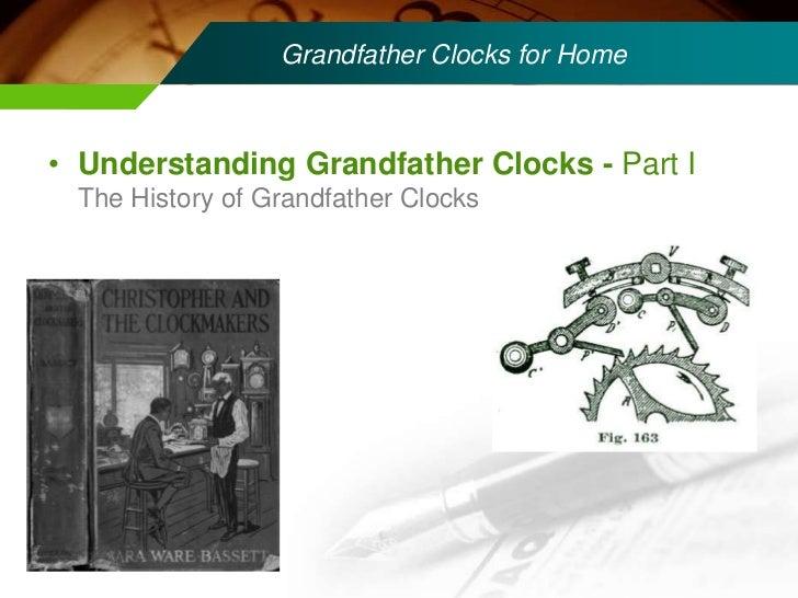 Understanding Grandfather Clocks part I