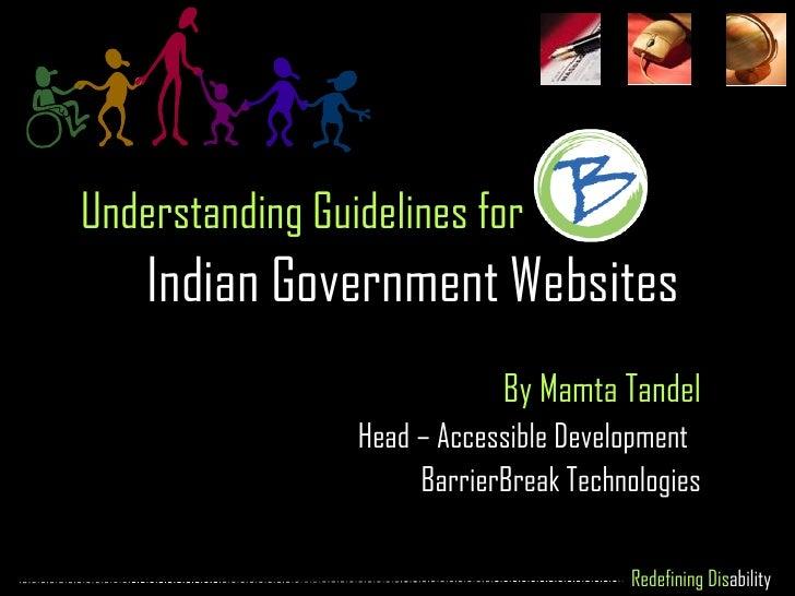 Understanding Guidelines for Indian Government Websites