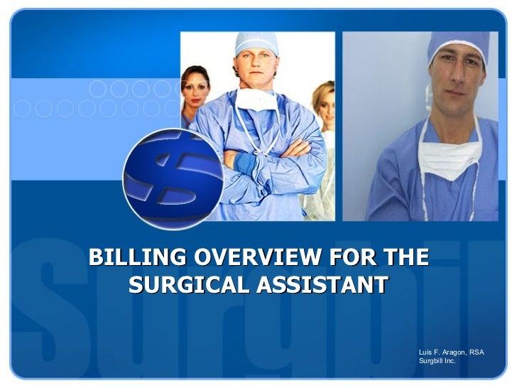 Understanding health insurance reimbursement for Surgical Assistants
