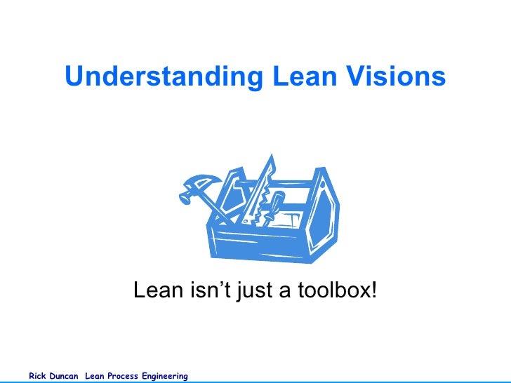 Lean isn't just a toolbox! Understanding Lean Visions