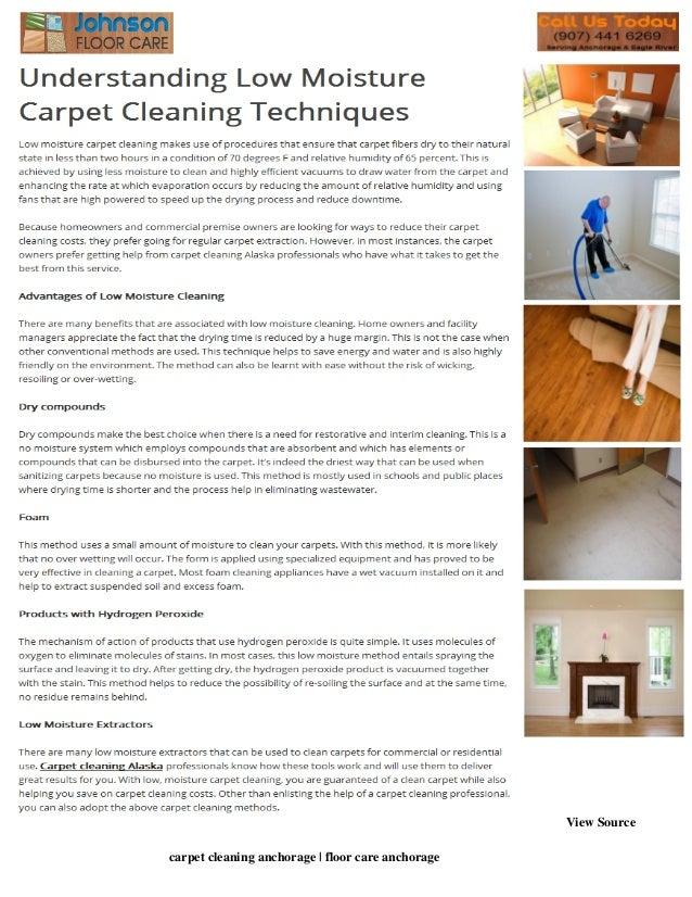 Understanding low moisture carpet cleaning techniques