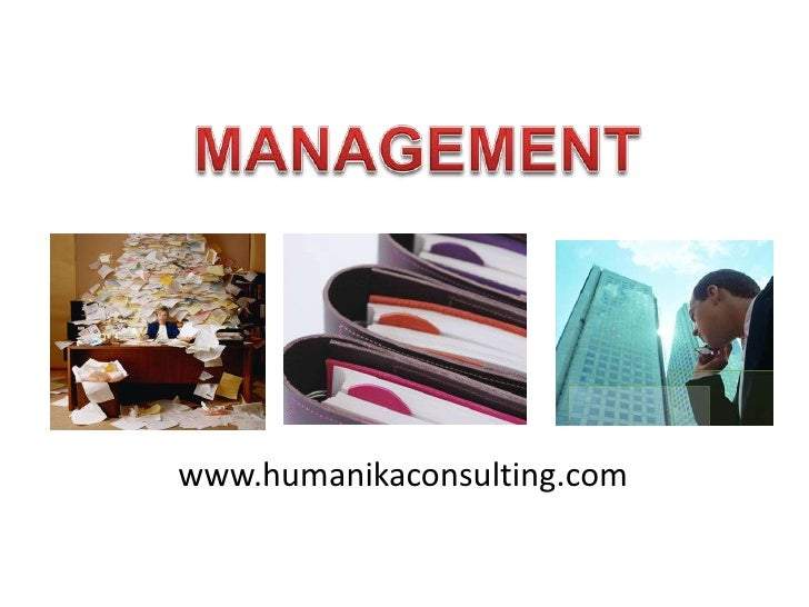 MANAGEMENT<br />www.humanikaconsulting.com<br />