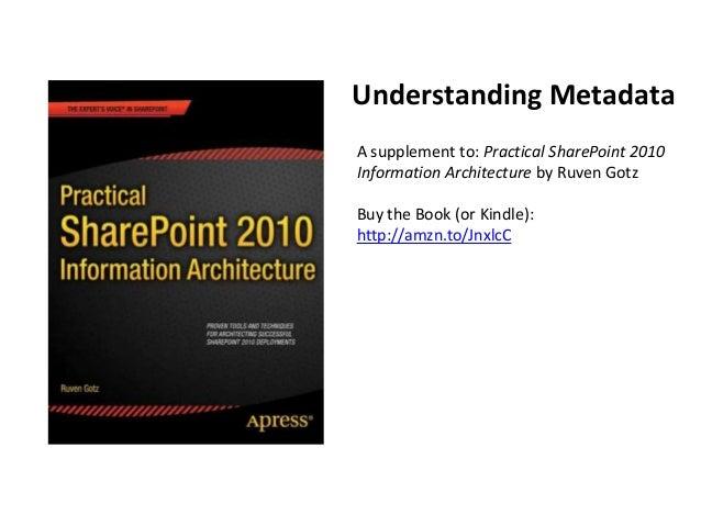 Understanding metadata - practical spia book