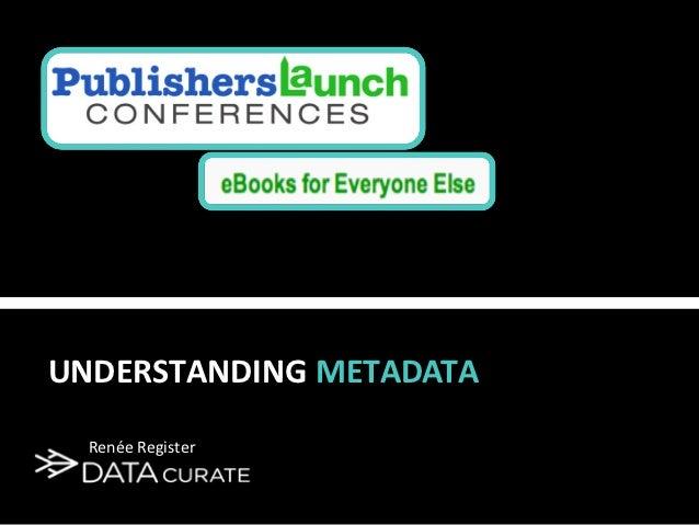 Understanding metadata sept-2011