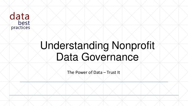 Understanding Nonprofit Data Governance