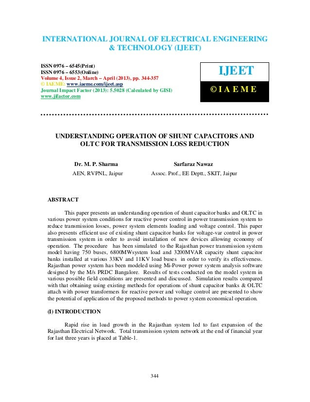 International Journal of Electrical Engineering and Technology (IJEET), ISSN 0976 –6545(Print), ISSN 0976 – 6553(Online) V...