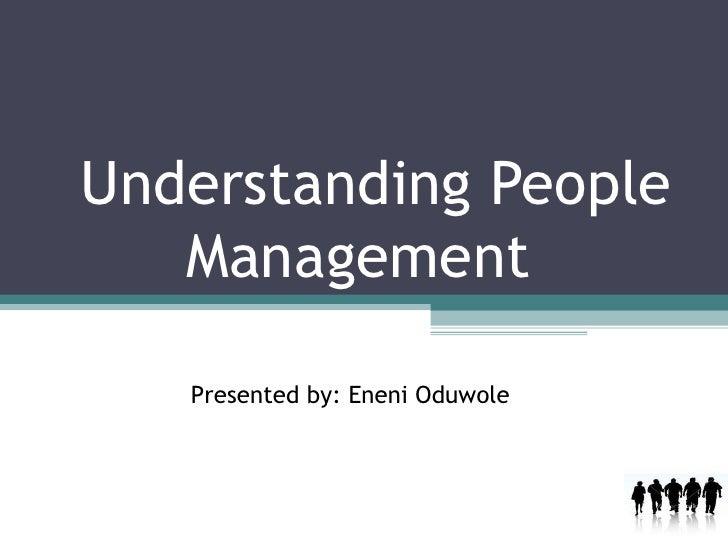 Understanding People Management