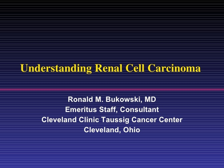 Understanding Renal Cell Carcinoma