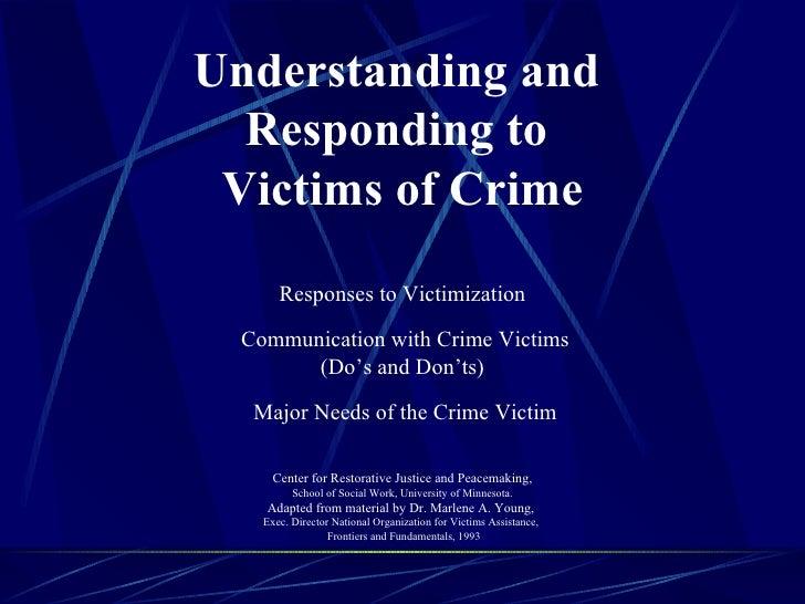 Understanding responding to_victims