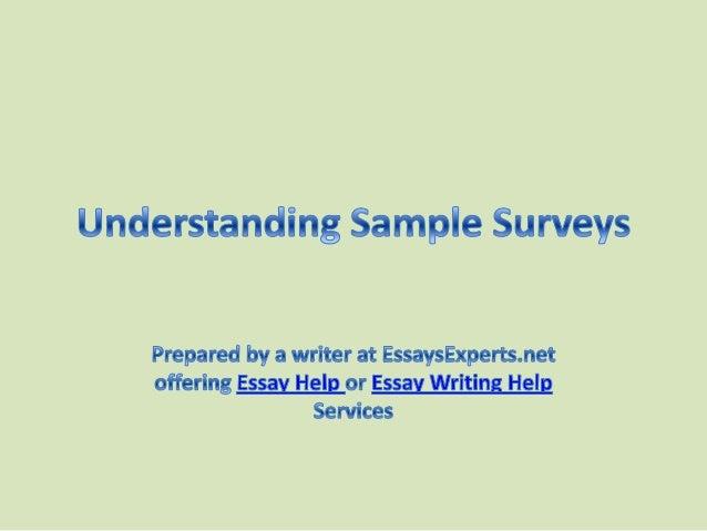 The help essay understanding