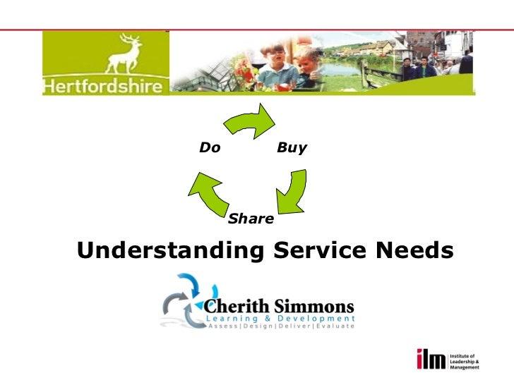 Understanding service needs