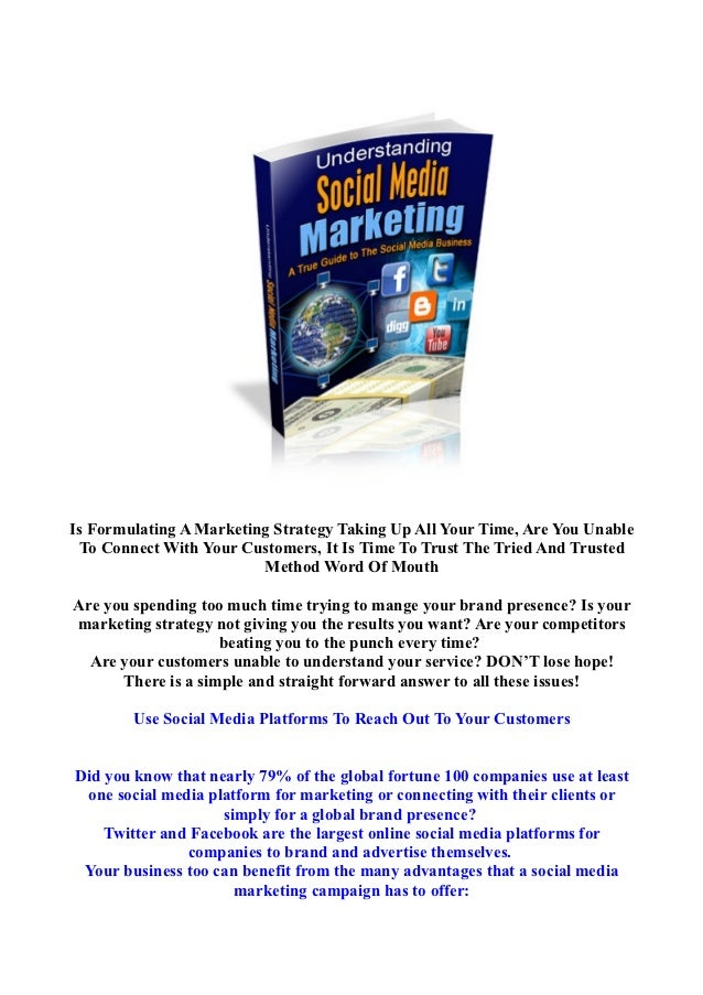 Understanding Social Media The Ebook - Use Social Media Platforms To Reach Out To Your Customers