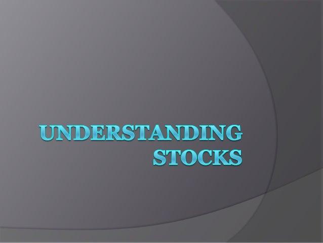 Understanding stocks2