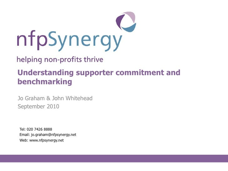 Understanding supporter commitment and benchmarking