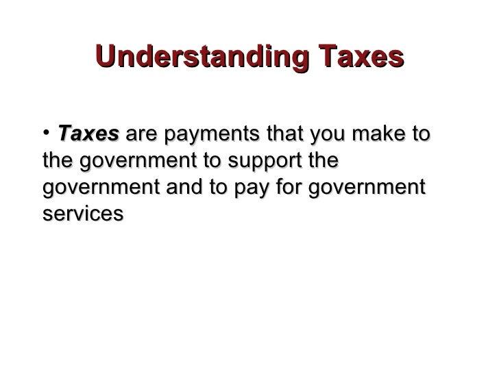 Understanding taxes roberts