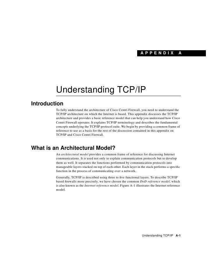 Understanding tcp=ip
