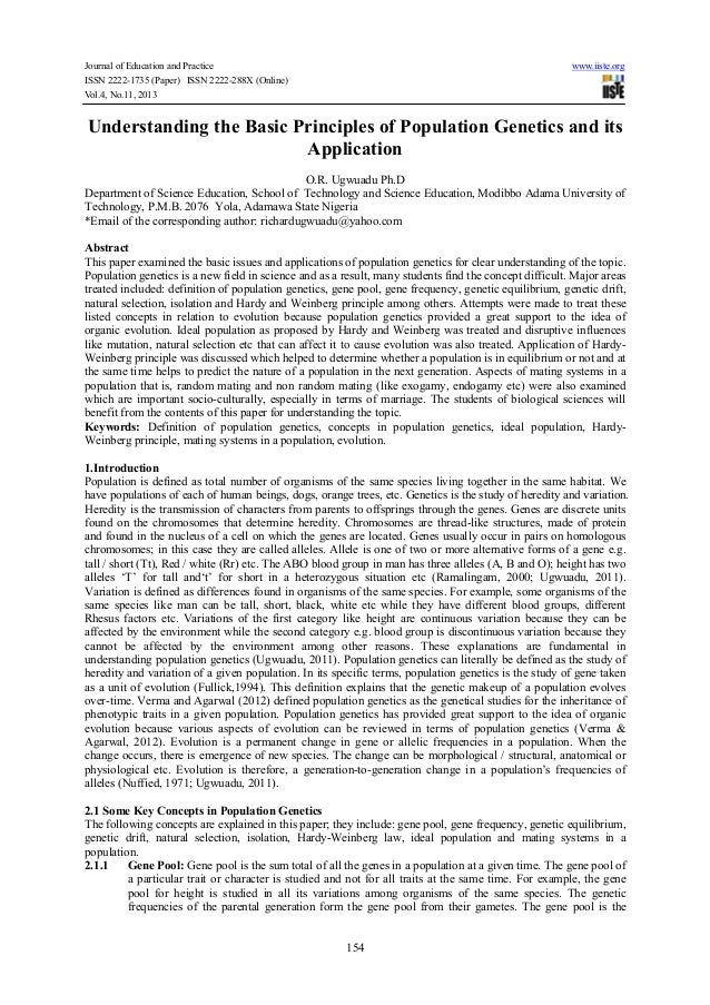 Journal of Education and Practice www.iiste.org ISSN 2222-1735 (Paper) ISSN 2222-288X (Online) Vol.4, No.11, 2013 154 Unde...