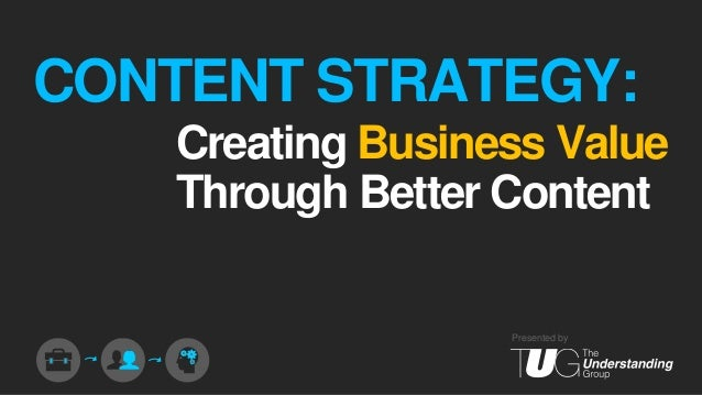 CONTENT STRATEGY: Creating Business Value Through Better Content  Presented by