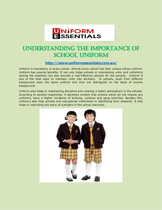 essay on advantages of school uniforms and discipline Second, school uniforms helps to eliminate socio-economical barriers many students come from diverse backgrounds however, inside the walls of the school, economic advantages and disadvantages are no longer obvious.