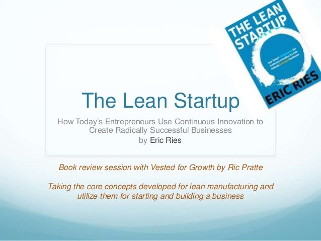 Understanding the Lean Startup