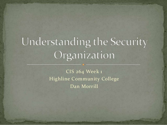 Understanding the security_organization