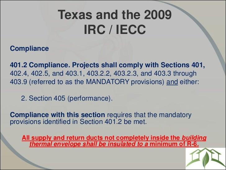 Understanding the Texas Energy Code