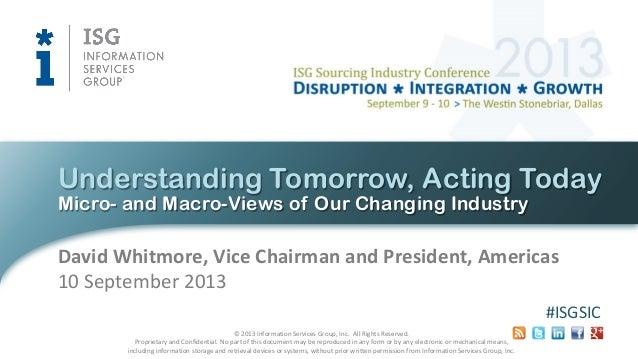 Understanding Tomorrow, Acting Today