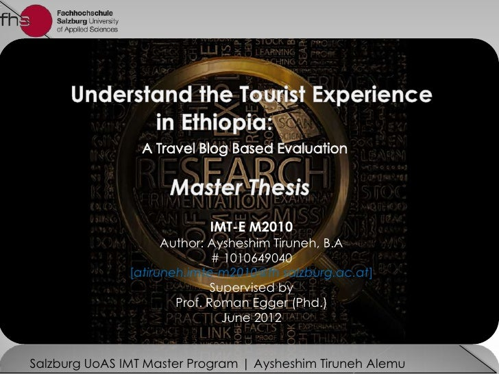 Understanding the  Tourist Experience in Ethiopia