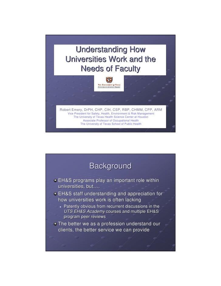 Understanding universities and_the_needs_of_faculty