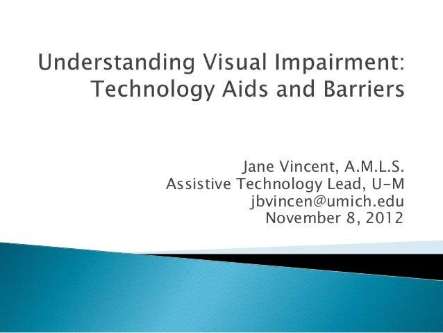 Understanding visual impairment