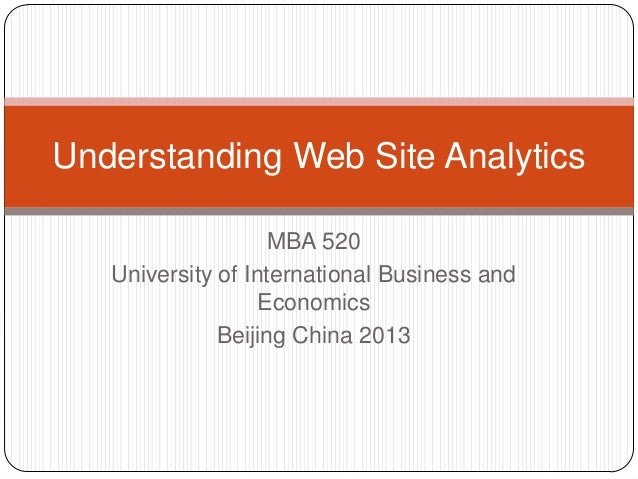 Understanding web site analytics