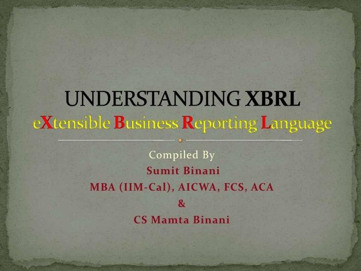 Understanding XBRL