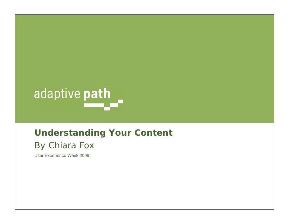Understanding Your Content