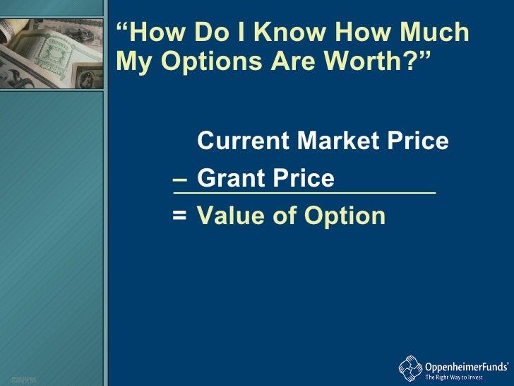 Understanding your stock options