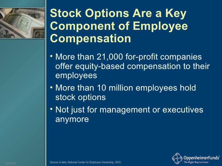 Granting stock options to key employees