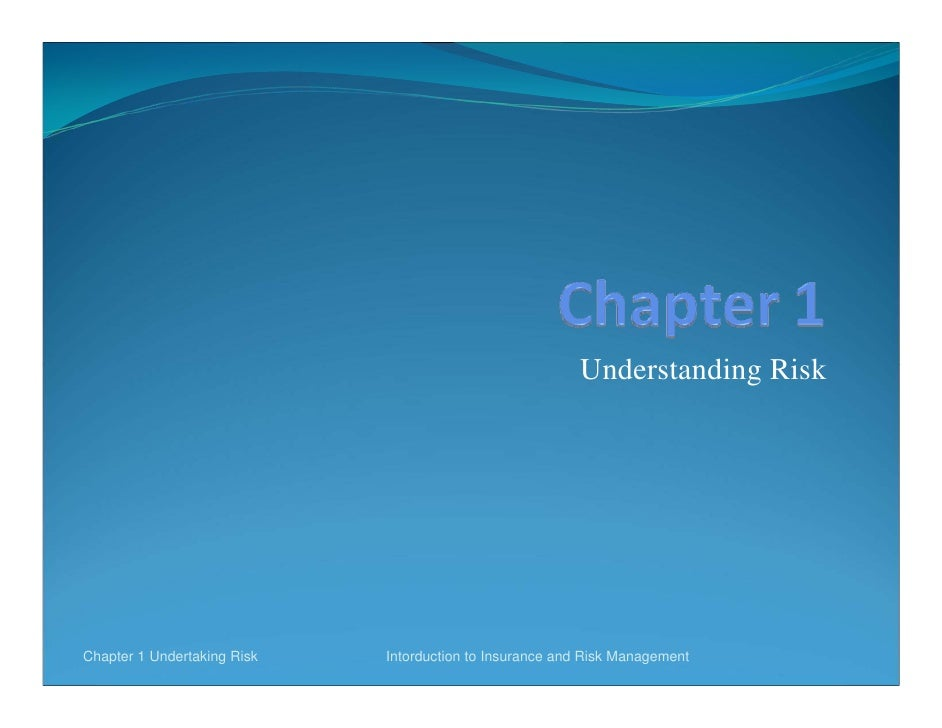 Understanding RiskChapter 1 Undertaking Risk   Intorduction to Insurance and Risk Management