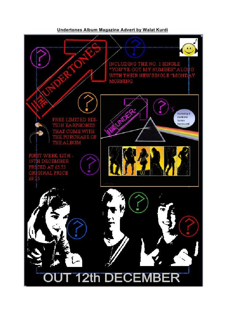 Undertones Album Magazine Advert by Walat Kurdi