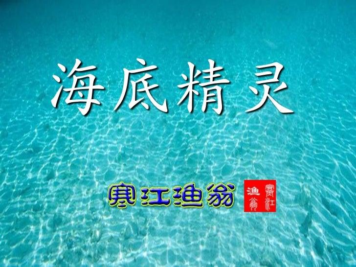 海底精靈 Under water_wonders