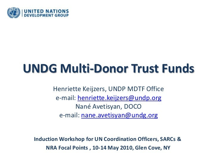 Undg multi donor trust funds - 13 may 2010
