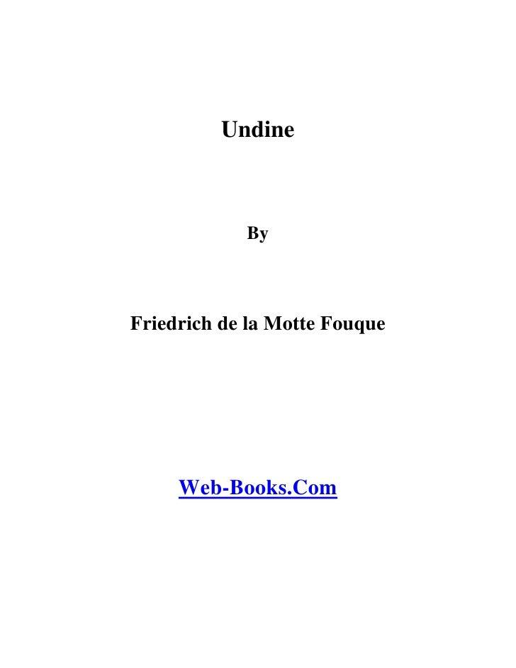 Undine (friedrich-de-la-motte-fouque)