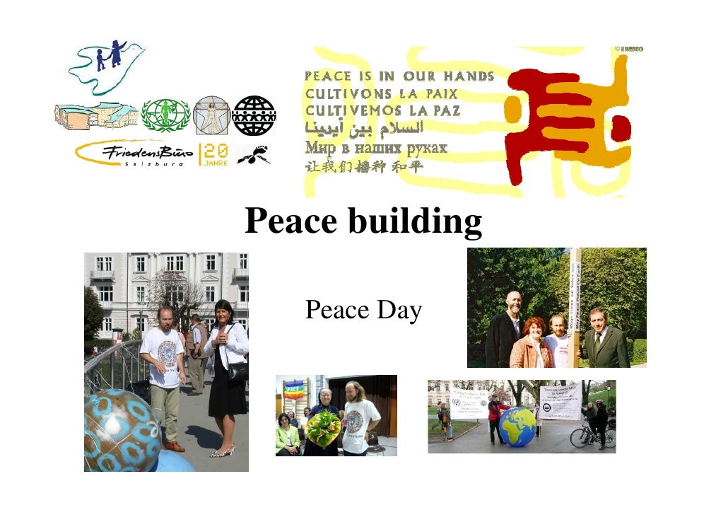 Peace building     Peace Day