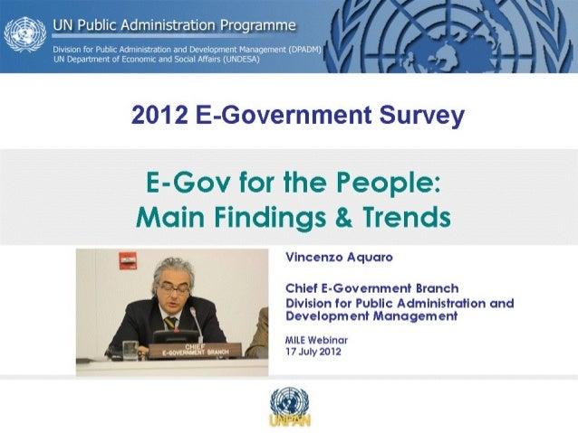 Un e government survey 2012 main findings & trends