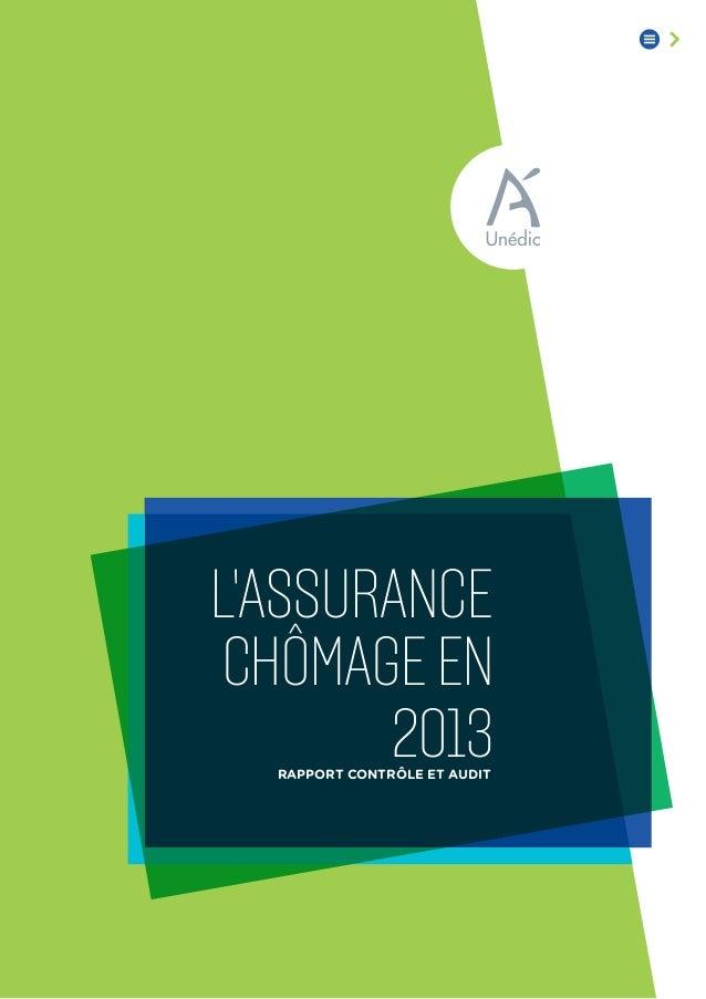 Rapport contrôle et audit chômageen L'ASSURANCE 2013
